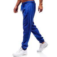 J.style Spodnie męskie dresowe joggery kobaltowe denley xw01
