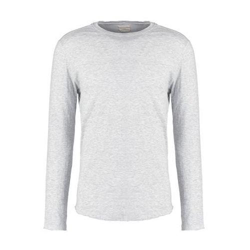 Selected homme  shnludvig bluzka z długim rękawem light grey melange