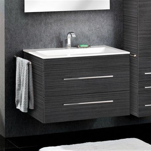 Lanzet Szafka ciemny dąb z umywalką 90 cm P5 - ciemny dąb \ ciemny dąb \ 90 cm