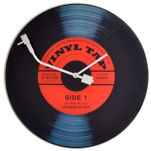 Zegar ścienny Vinyl Tap, 8141