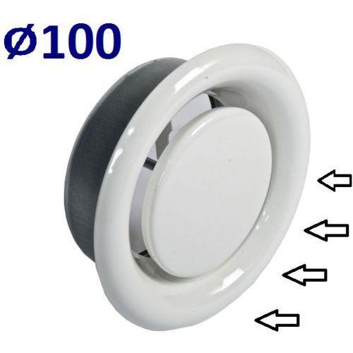 Anemostat wywiewny średnice od 100 do 200 zawór do wentylacji wszystkie średnice średnica [mm]: 100 marki Systerm