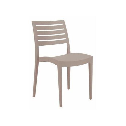 Krzesło ogrodowe FIRENZE plastikowe beżowe (8005465970402)
