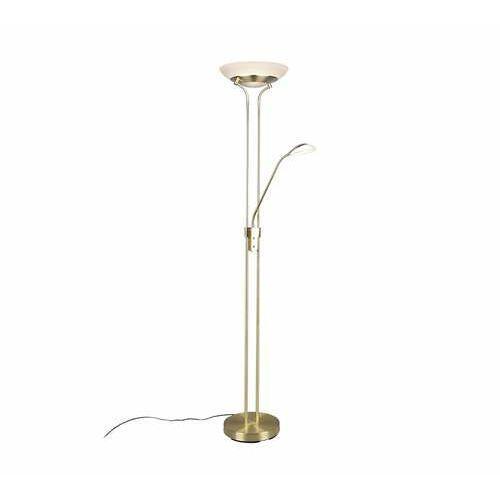 Trio RL Orson R40073508 lampa stojąca podłogowa 1x27W+1x4,5W LED brązowa/kremowa