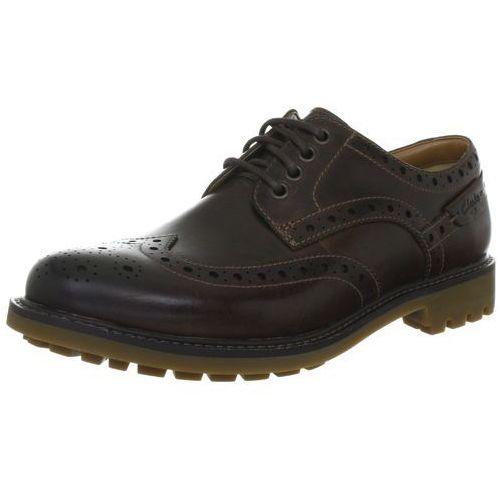 Pantofle Clarks Montacute Wing dla mężczyzn, kolor: brązowy, rozmiar: 44, 1 rozmiar