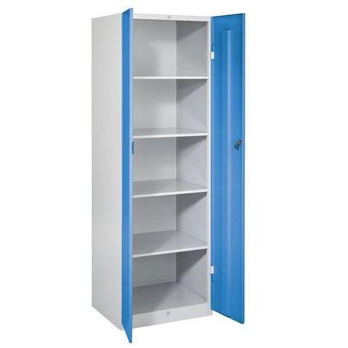 Eugen wolf Szafa stalowa, szer. 600 mm, 4 półki, drzwi jasnoniebieskie. do każdego zastosow