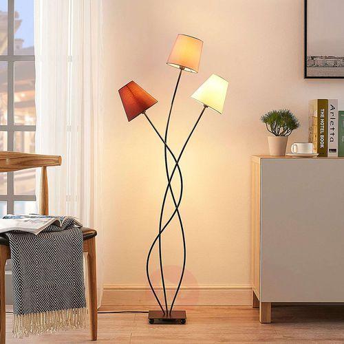 Lindby 3-punktowa lampa stojąca melis, tkanina (4251096545739)