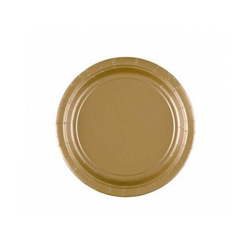 Talerzyki złote - 18 cm - 8 szt. (0048419066651)