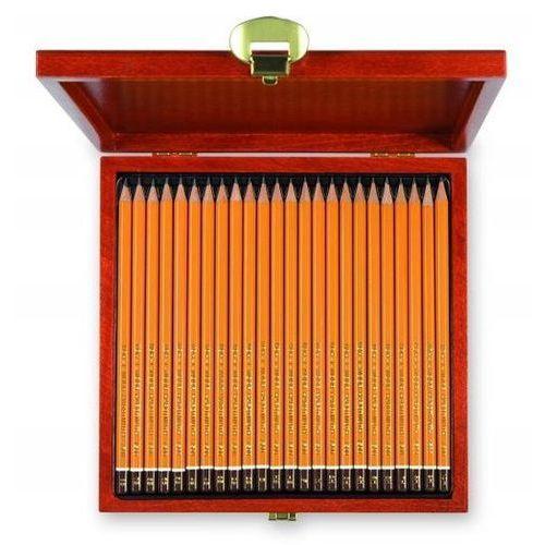 Ołówek grafitowy 8b-10h 24 szt.uki kasetka drewniana
