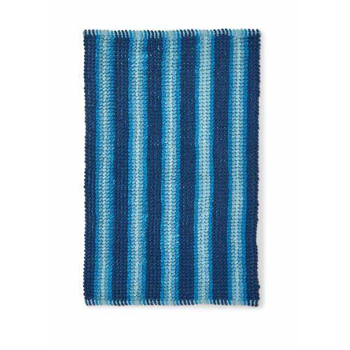 Bonprix Dywaniki łazienkowe w strukturalny wzór niebieski