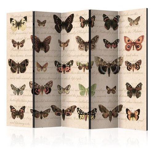 Artgeist Parawan 5-częściowy - styl retro: motyle ii [room dividers]