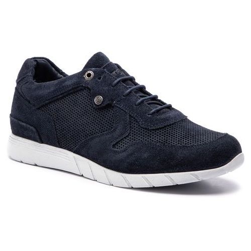 Sneakersy WRANGLER - Jive Run Suede WM91090A Navy 016, kolor niebieski