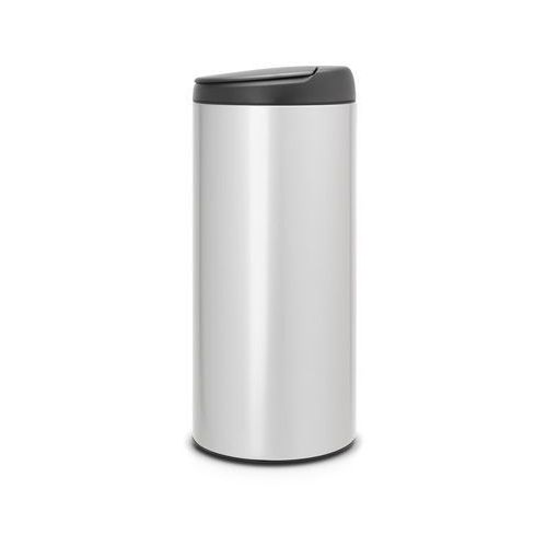 Brabantia - kosz 'flip bin' - wiaderko plastikowe - 30 l - metaliczny szary/pokrywa grafitowa