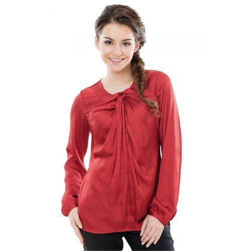 Bluzka beżowa typu tunika Duet Woman, rozmiar 42, czerwony