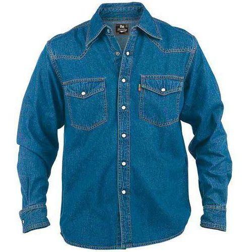 Koszula jeansowa niebieska Duke London Western, kolor niebieski