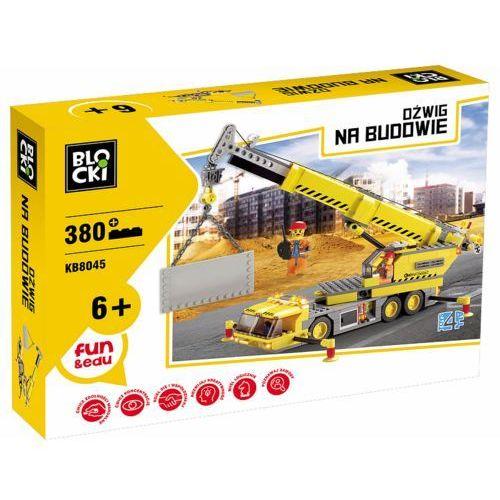 Klocki Blocki Na budowie Dźwig 380 elementów