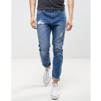 LDN DNM Slim Fit Jeans in Washed Blue - Blue