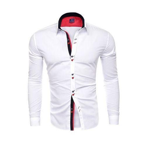Risardi Koszula męska długi rękaw rl27 - biała