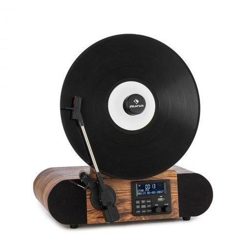 Auna verticalo se dab, gramofon retro, dab+, tuner ukf, usb, bluetooth, aux, drewno (4060656223792)