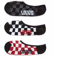 Vans Skarpetki - classic super no show (9.5-13, 3pk) red-white check (rlm)