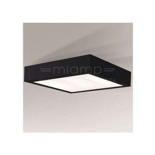 Shilo Minimalistyczna lampa sufitowa nomi 8023/2g11/cz łazienkowa oprawa kwadratowa ip44 czarna