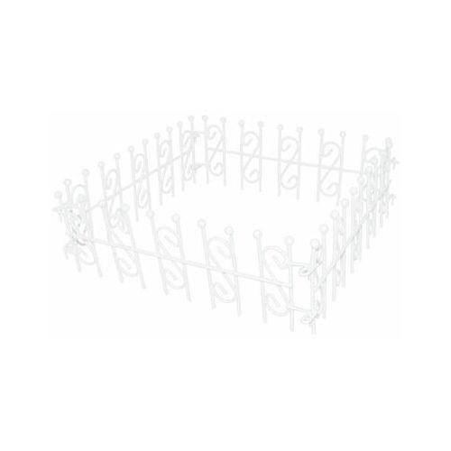 Płotek metalowy mini 20 x 6,5 cm biały do lasu w słoiku (5903039407596)