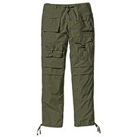 Spodnie bojówki Loose Fit bonprix ciemnooliwkowy