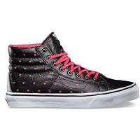 Buty - sk8-hi slim (leather perf hearts) black/true white (8o0), Vans