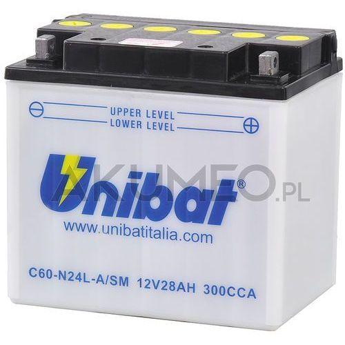 Unibat Akumulator c60-n24l-a/sm 12v 28ah 300a prawy+ ol