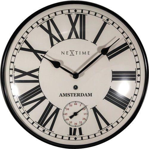 Nextime Zegar ścienny z oddzielnym sekundnikiem amsterdam dome 30 cm (3231)