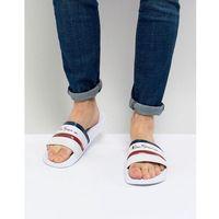 stripe slider flip flops - white, Ben sherman