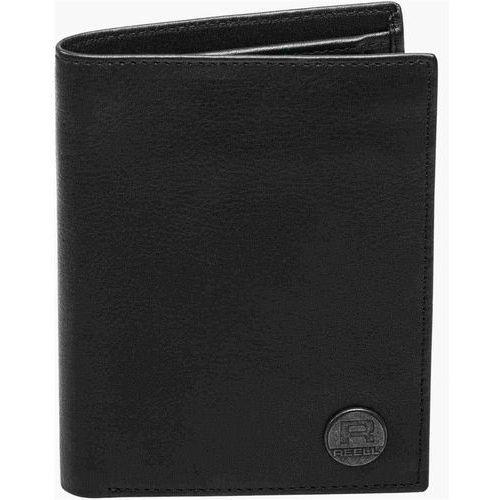 portfel REELL - Canvas Leather Wallet Black (BLACK) rozmiar: OS