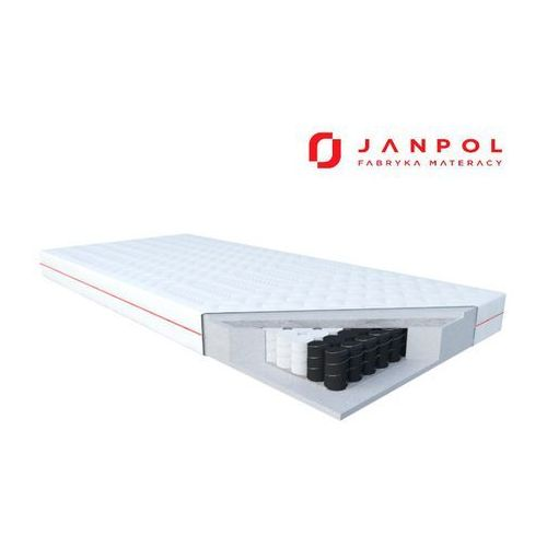 JANPOL WENUS - materac kieszeniowy, sprężynowy, Twardość - średni, Rozmiar - 140x190, Pokrowiec - Smart NAJLEPSZA CENA, DARMOWA DOSTAWA