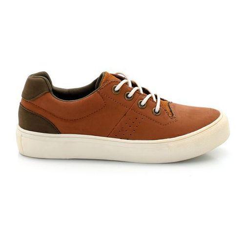 Buty sportowe z materiału syntetycznego 26-40, kolor brązowy