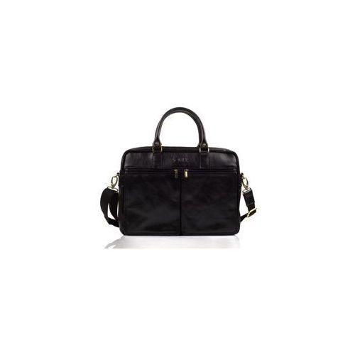 Skórzana męska torba na ramię, laptopa  sl01 dundee marki Solier