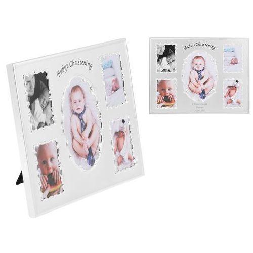Alechrzest.pl Ramka na zdjęcia baby's christening na 5 zdjęć grawer