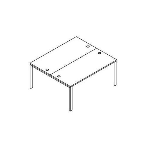 Układ biurek (2 stanowiska) BSA24 wymiary: 160x140x75,8 cm