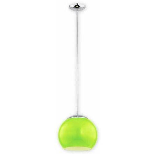 Lemir nolab o2841 w1 ch + zie [m] lampa wisząca zwis 1x60w e27 chrom+zielony (5902082869641)