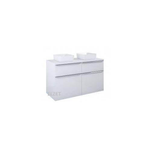 szafka lofty 120 white pod umywalkę nablatową + blat 120 white 167028+167036 marki Elita