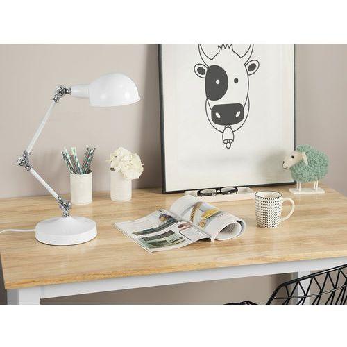 Lampa biurkowa metalowa biała CABRIS (4260586358919)