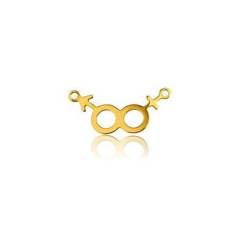 Symbol żeński i męski, złoto próby 585