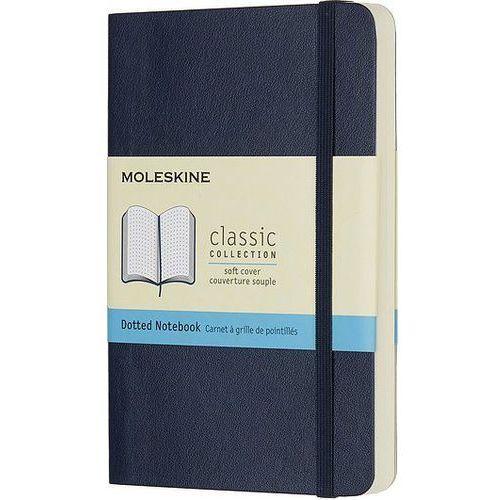 Notes Moleskine w miękkiej oprawie kieszonkowy szafirowy w kropki