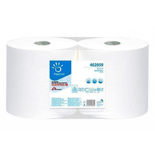 Czyściwo przemysłowe w roli 2 warstwy białe celuloza Papernet, 2szt.