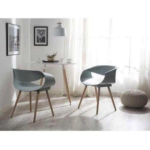 Krzesło do jadalni jasnoniebieskie charlotte marki Beliani
