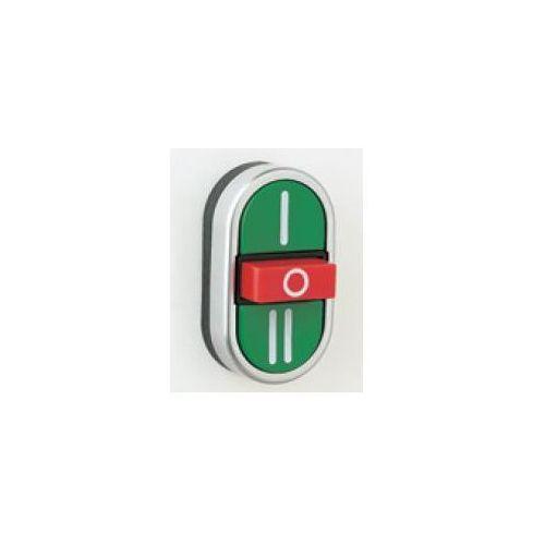 Przycisk potrójny chromowany wystający środkowy, zielone I, czerwony O, zielony II PPMNCL