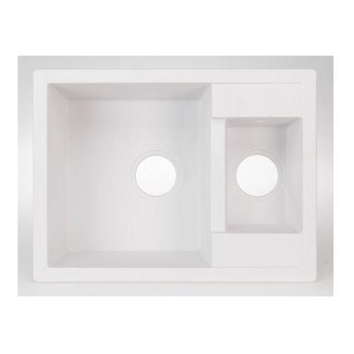 Cooke&lewis Zlewozmywak granitowy jayson 1,5-komorowy bez ociekacza biały (3663602792055)
