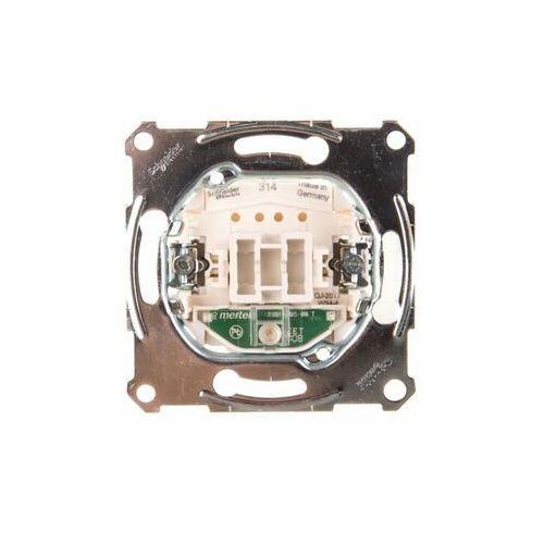 Schneider electric polska sp. z o.o. Merten łącznik pojedynczy 10a 250v ip20 z podświetleniem mtn3131-0000