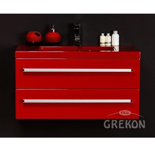Czerwona szafka wisząca z umywalką 80/39/2cz seria fokus cz marki Gante
