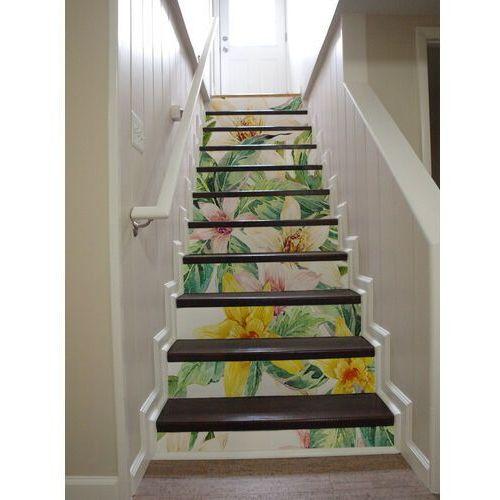Naklejki na schody Egzotyczne Kwiaty