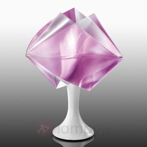 Slamp Fioletowa designerska lampa stołowa gemmy prisma (8024727040875)