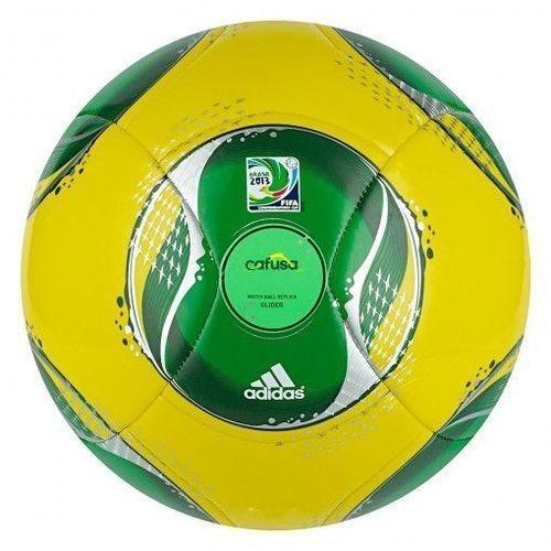 Piłka  confed cup glider żółto-zielona - żółto-zielony ||czarno - zielony marki Adidas